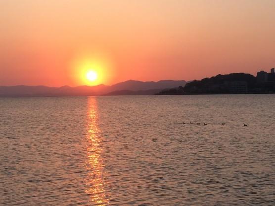 宍道湖の夕焼け1